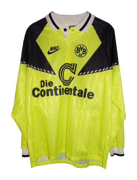 Borussia Dortmund 1990 91 Home Kit